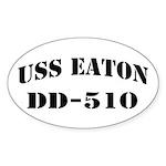USS EATON Sticker (Oval)