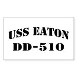 USS EATON Sticker (Rectangle)