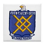 USS EATON Tile Coaster