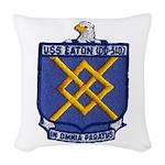 USS EATON Woven Throw Pillow