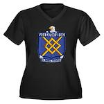 USS EATON Women's Plus Size V-Neck Dark T-Shirt