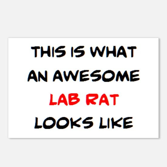 awesome lab rat Postcards (Package of 8)