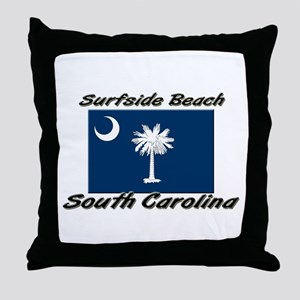 Surfside Beach South Carolina Throw Pillow