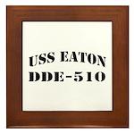 USS EATON Framed Tile