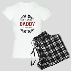 Custom Worlds Greatest Dadd Women's Light Pajamas