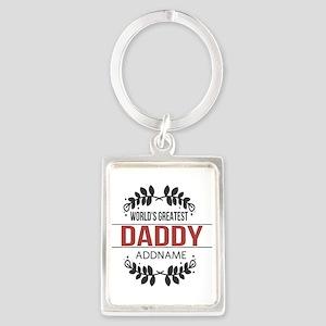 Custom Worlds Greatest Daddy Portrait Keychain