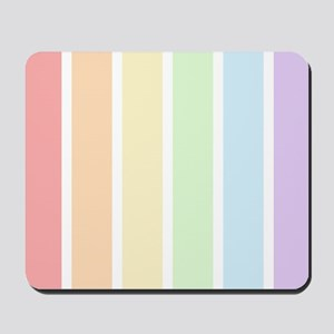 Pastel Rainbow Stripes Mousepad