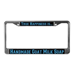 GoatMilk Soap License Plate Frame