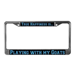 Playing with Goats License Plate Frame