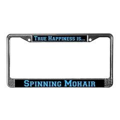 Spinning Mohair License Plate Frame