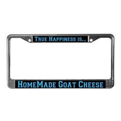 Goat Cheese License Plate Frame