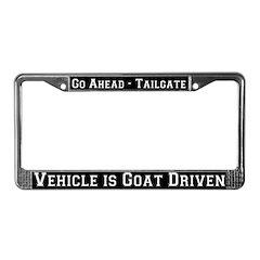 Goat Driven License Plate Frame