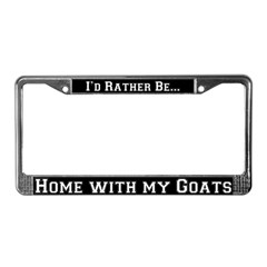 Home with my Goats License Plate Frame