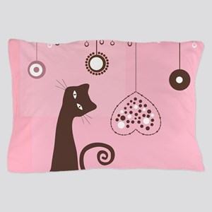 Valentine's Day Cat Pillow Case