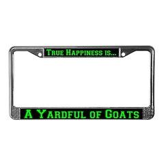 Yard Full of Goats License Plate Frame