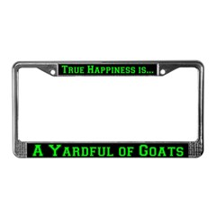 Yard Full of Goats License Plate Frame