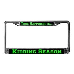 Goat Kidding Season License Plate Frame