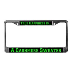 Cashmere Sweater License Plate Frame