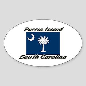 Parris Island South Carolina Oval Sticker