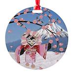 Sakura Geisha Bird Ornament