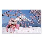 Sakura Geisha Bird Sticker