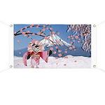 Sakura Geisha Bird Banner