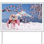 Sakura Geisha Bird Yard Sign