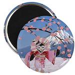 Sakura Geisha Bird Magnets