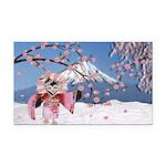 Sakura Geisha Bird Rectangle Car Magnet