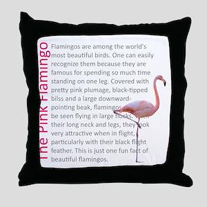 Fun Flamingo Fact Throw Pillow