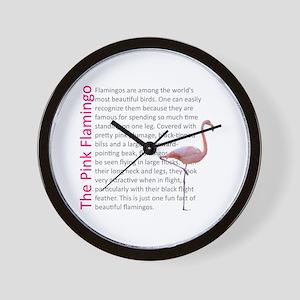 Fun Flamingo Fact Wall Clock