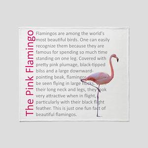 Fun Flamingo Fact Throw Blanket