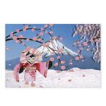 Sakura Geisha Bird Postcards (Package of 8)