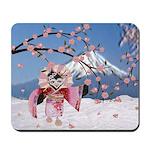 Sakura Geisha Bird Mousepad