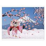 Sakura Geisha Bird Posters