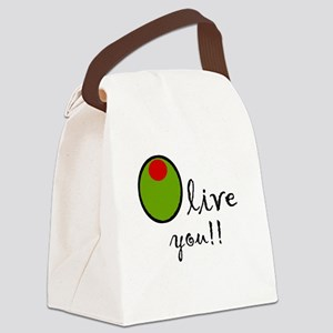 Olive You Canvas Lunch Bag