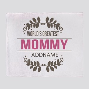 Custom Worlds Greatest Mommy Throw Blanket