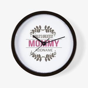 Custom Worlds Greatest Mommy Wall Clock