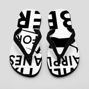 Airplanes Beer Flip Flops