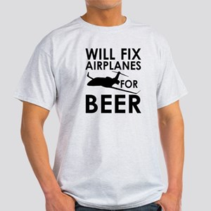Airplanes Beer Light T-Shirt