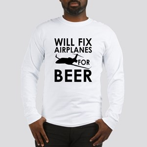 Airplanes Beer Long Sleeve T-Shirt
