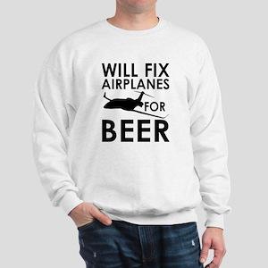 Airplanes Beer Sweatshirt
