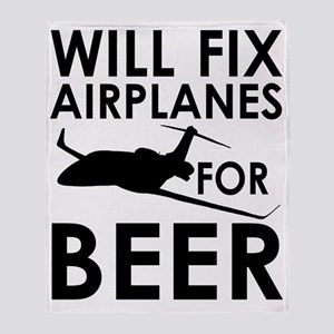 Airplanes Beer Throw Blanket