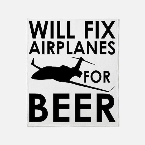 Airplanes Beer Throw Blanket