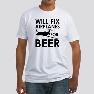 Airplanes Beer Fitted T-Shirt
