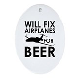 Aircraft mechanic Oval Ornaments