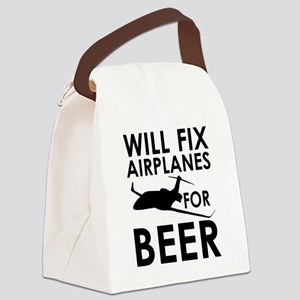 Airplanes Beer Canvas Lunch Bag