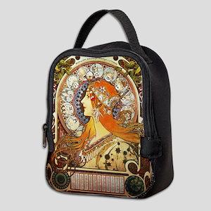 Alphonse Mucha La Plume Zodiac Neoprene Lunch Bag
