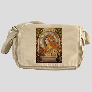 Alphonse Mucha La Plume Zodiac Messenger Bag