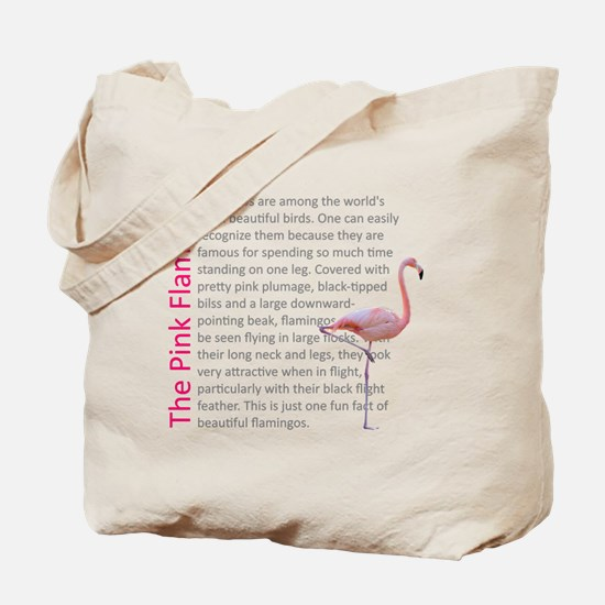Fun Flamingo Fact Tote Bag
